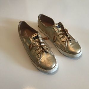 Gold sperry top sider size 11 sneakers